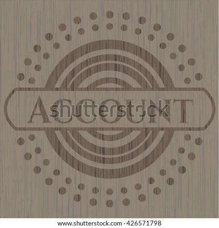Account retro style wood emblem