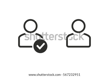 Account vector icon. Black illustration isolated on white background for graphic and web design.