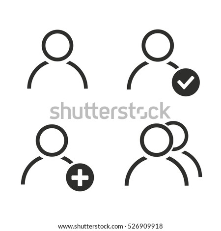 Account vector icons set. Illustration isolated for graphic and web design.