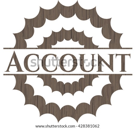Account vintage wood emblem