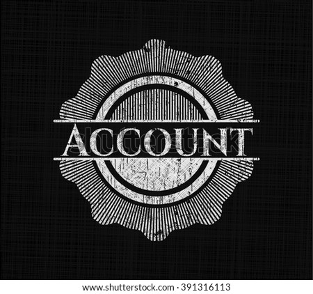 Account with chalkboard texture
