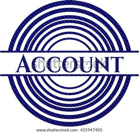 Account with denim texture