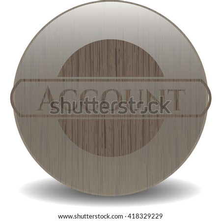Account wood icon or emblem