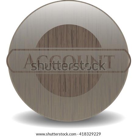 Account wood icon or emblem