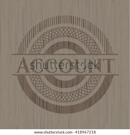 Account wooden signboards