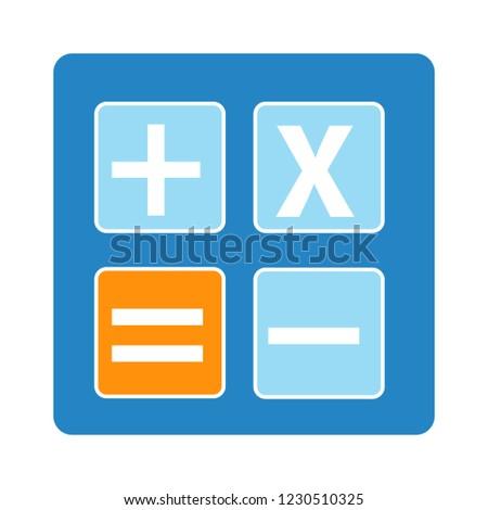 accounting calculator isolated vector - mathematics calculation illustration sign . finance digital digital sign symbol