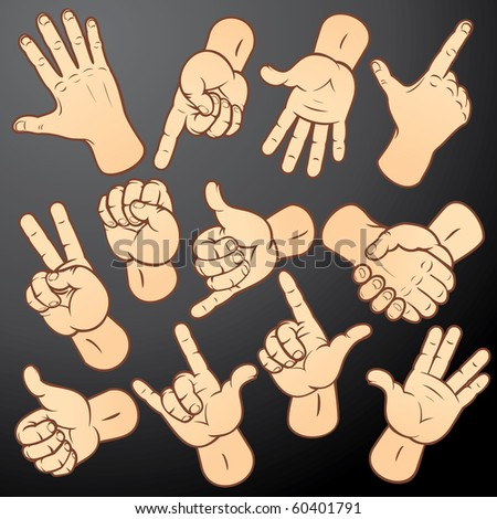 Accuracy vector hands-various gestures collection for your design: handshake, fist, forefinger, warning, knuckle etc...MORE HANDS SEE AT MY GALLERY