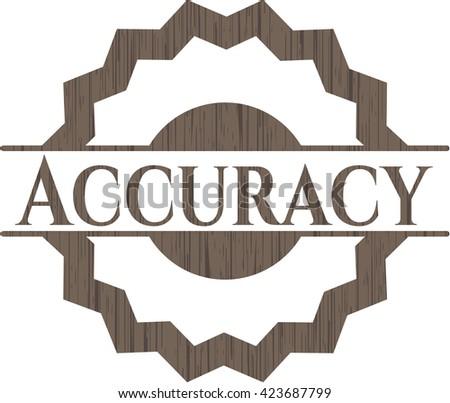 Accuracy wood emblem. Retro