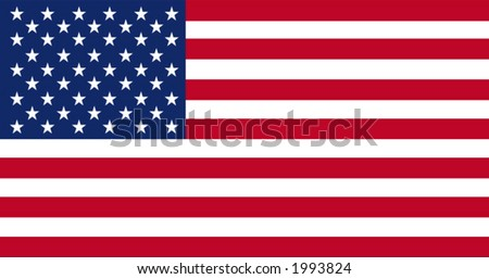 Accurate vector drawing of the flag of United States in terms of scale, size, colour, and size of the elements.