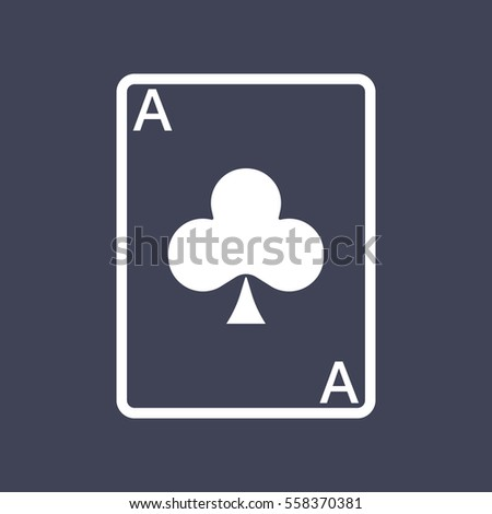 Ace card icon Photo stock ©