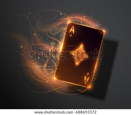 ace card with fire effect