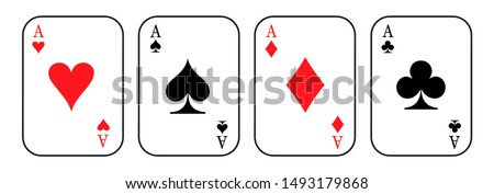 Ace cards. Card suit icon sign - vector ストックフォト ©