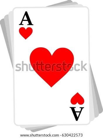 ace heart red card logo icon cards game symbol ez canvas