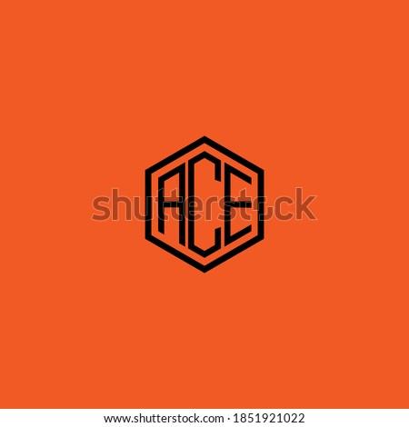 ACE letter icon design on RED background. Creative letter ACE/A C E logo design. AC E initials Logo design Сток-фото ©
