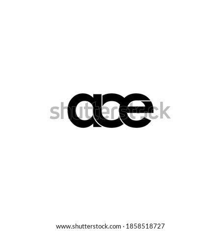 ace letter original monogram logo design Сток-фото ©