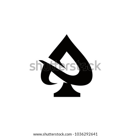 ace logo vector graphic outline minimalist Сток-фото ©