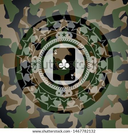 ace of clover icon inside camo