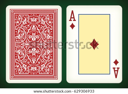 Ace of diamonds - playing cards vector illustration