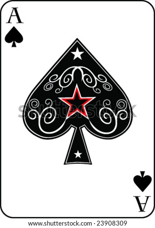 Ace of Spades/red star