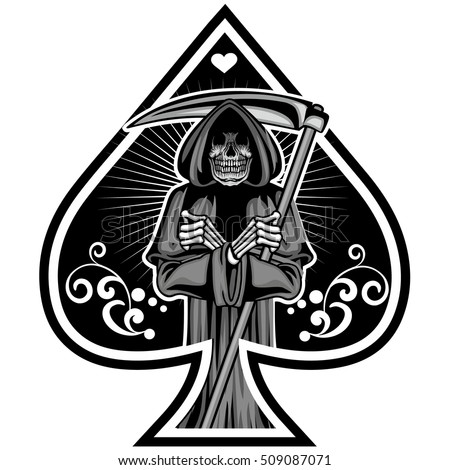 Vector Images Illustrations And Cliparts Ace Of Spades With Gothic