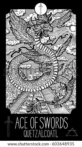 ace of swords quetzalcoatl