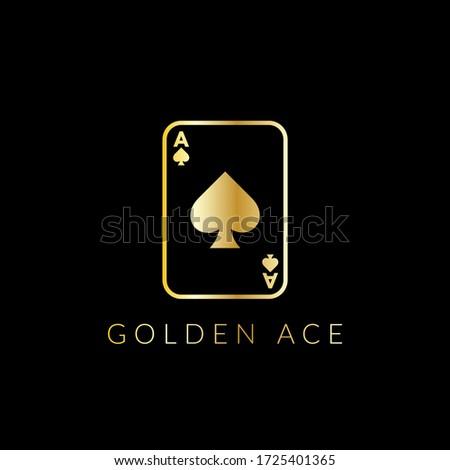ace spade logo with gold design