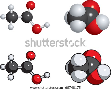 Acetic Acid (Vinegar) Molecules Stock Vector 65748175 : Shutterstock