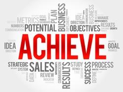 Achieve word cloud, business concept