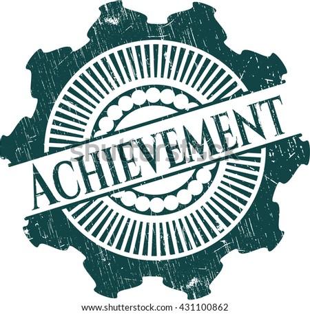 Achievement grunge style stamp