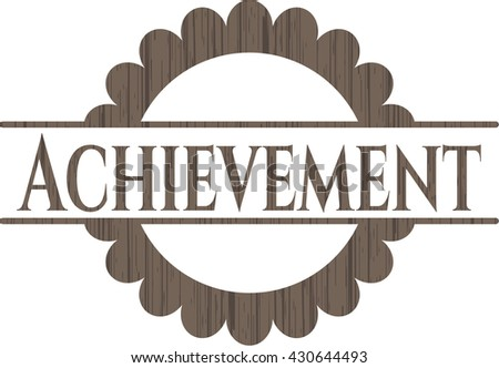 Achievement vintage wood emblem