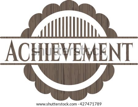 Achievement wood emblem. Vintage.