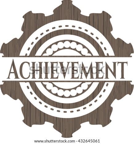 Achievement wooden signboards