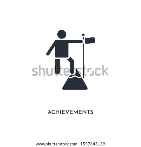 achievements icon. simple element illustration. isolated trendy filled achievements icon on white background. can be used for web, mobile, ui.