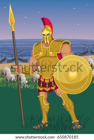 achilles near the greek camp on