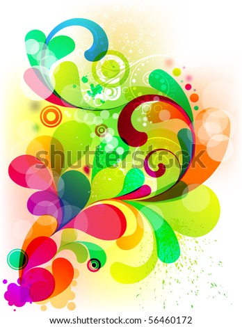 Acid graphic for your colorful design