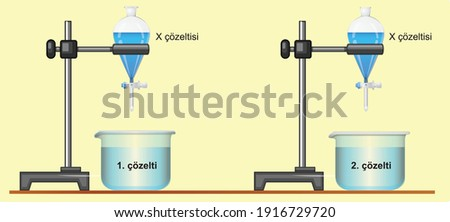 acids and bases chemical solution test science lesson Stok fotoğraf ©