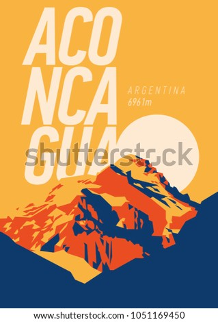 aconcagua in andes  argentina