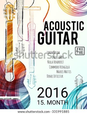 acoustic guitar event design