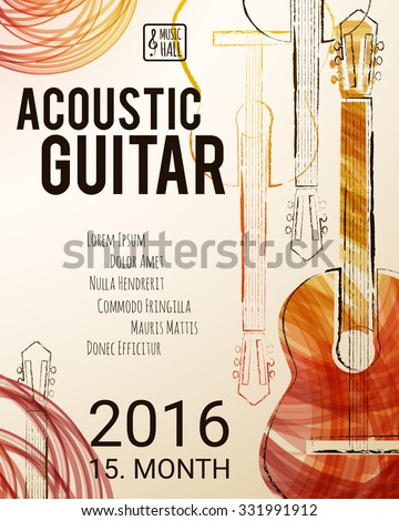 acoustic guitar event design