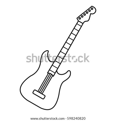 acoustic guitar icon outline