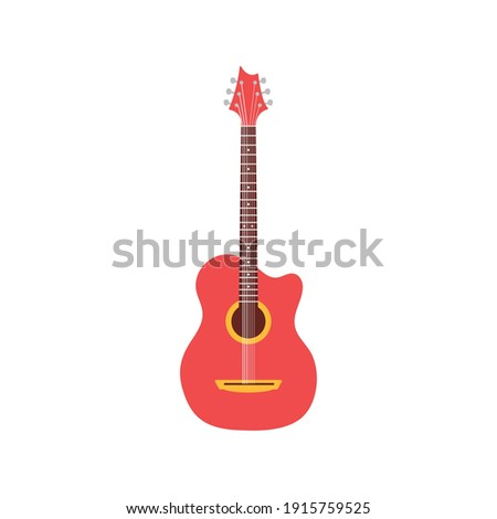 acoustic guitar red color