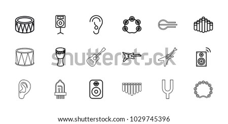 acoustic icons set of 18