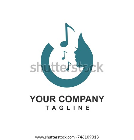 acoustic music logo and icon