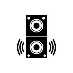Acoustic music speaker icon. Simple icon element for website, web design, mobile applications, infographics with white background in eps 10 format