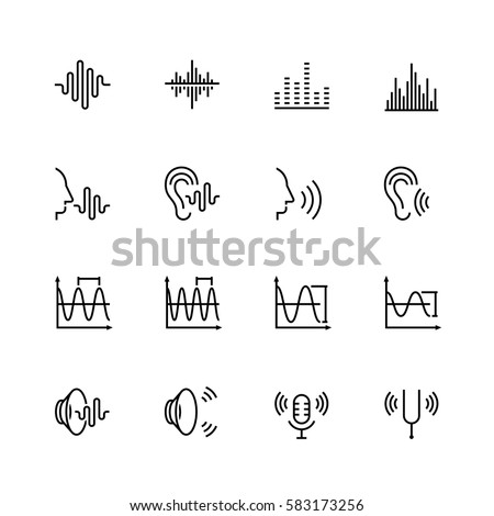 acoustics and sound vector icon