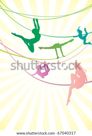 acrobat color vector image - stock vector