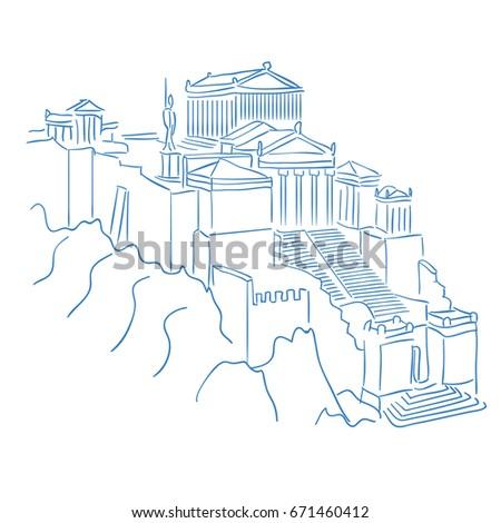 acropolis and parthenon athens