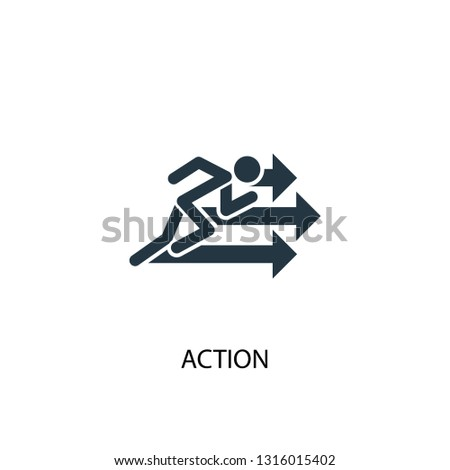 action icon. Simple element illustration. action concept symbol design. Can be used for web and mobile.