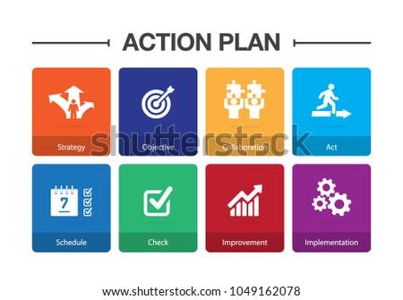 Action Plan Infographic Icon Set
