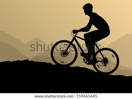 active man cyclist bicycle